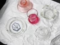 Here's what you get: Pink Depression Glass Candle