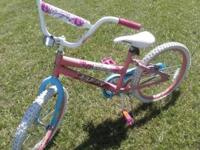 "pink girl bike good condition I think is 20 "" call"