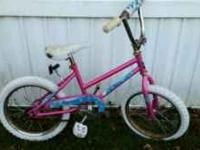 Here we are selling a Pink Girl's Bike that was given