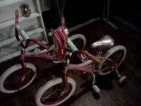 I have two identical pink bikes for sale. Asking $40