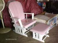 pink glider rocker for sale...new still in plastic