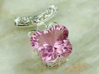 PINK ICE BUTTERFLY PENDANT GEMSTONE SIZE: 25mm x 25mm