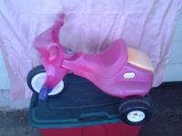 PINK LITTLE TIKES RIDE USED PINK LITTLE TIKES RIDE IN