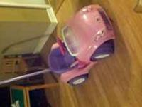 I have a pink power wheels car for ages 1 plus. Its
