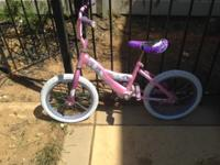 Pink princess kids bike $10 obo Princess bike for sale.
