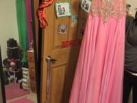 Very beautiful long pink prom dress. Worn once! Still