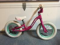 Pink Raleigh Lil Push Balance Bike - the perfect