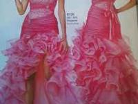 ***Pink Strapless Prom Dress For Sale..Size 8 & Its In