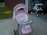 Pink Stroller for sale in good condition, needs
