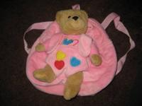 Adorable Pink Teddy Bear Backpack with a removable