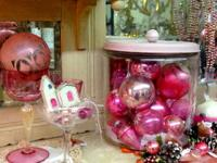 Pink Vintage Christmas Decorations $2 and up Country