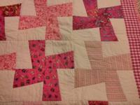 Pink Windmill Quilt condition: new size / dimensions: