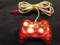 We have a pink wired controller for the x-box 360. We