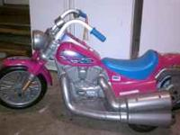 pink harley hard to find in great shape it has 2 speeds