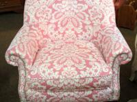 Curved back chair by Southern Furniture with rolled
