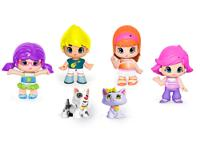 Pinypon Case Figures and Pets Playset. Includes 4