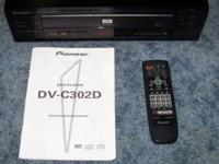 Pioneer DV-C302D 3-Disc DVD Player. Remote & Operating