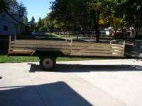 Custom Built Pipe Trailer 16 Foot Want to Sell Deck