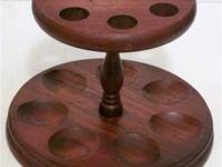 Vintage Solid Wood Pipe Stand. - Designed to hold 7