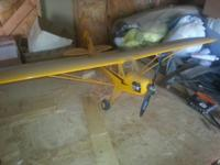Piper Cub electrical plane, 5' wingspan $250.00. Has