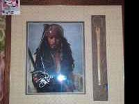 Pirates of the Carribean Pictaure and Frame with