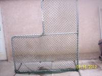 I HAVE A PITCHING SAFETY NET, ONLY USED TWICE, .EASY TO