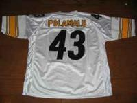 PITTSBURGH STEELERS TROY POLAMALU JERSEY FOR SALE! SIZE