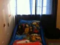 Great Christmas Gifts Blue Race Car Bed $100 obo Disney