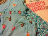 one set of pjs - mermaid themed - sz2t other set of pjs