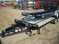 NEW PJ 25' HD EQUIPMENT TRAILER--TANDEM DUALS--LOW