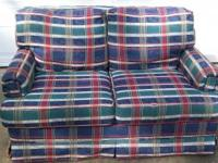 Plaid loveseat in excellent condition. 1- Location: