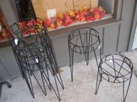 3 different size plant stands - black in color SELECT
