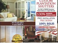 At Plantation Shutters Florida, we custom design and