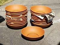 20 new terra cotta bowls, never used. Been stored