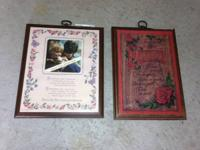 2 plaques / wall hangings / table display - - - - each