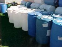 These are very nice condition 55 gallon barrels that