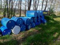 Plastic 55 gallon barrels for sale. I currently have