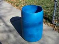 Plastic Blue Barrel use in Garage or trash or