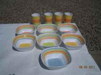 Plastic Cups (4) and (7) Bowls $6.00 /Call  Location: