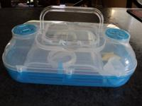 "LIKE NEW, PLASTIC HERMIT CRAB CARRIER - 12"" WIDE X 4"""