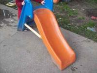 Heavy duty plastic slide put inside or outside to have