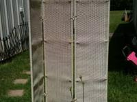 This is a 3 panel divider,  to give some privacy on a