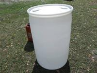PLASTIC YARD BARREL JUST IN TIME FOR SPING CLEAN UP.
