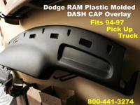 Plastic Molded DASH Cap Overlay Hard Cover /
