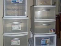 I am selling 9 plastic drawers. Two of them are smaller