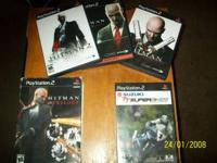 PLAY STATION 2 GAMES IN ORIGINAL CASES HITMAN TRILOGY 3