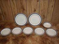 I have 2 Big plates, 5 saucer plates and 1 bowl. I hope