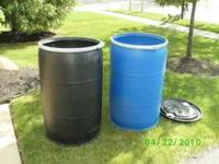 I have plastic 55 gallon drums, more blue ones than