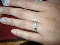 Platinum engagement ring, colorless, Clarity: SI(I),