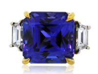 StylenPlatinum and 22k Yellow Gold 9.77Ct Tanzanite and